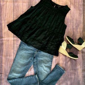 Who what wear black flowy top